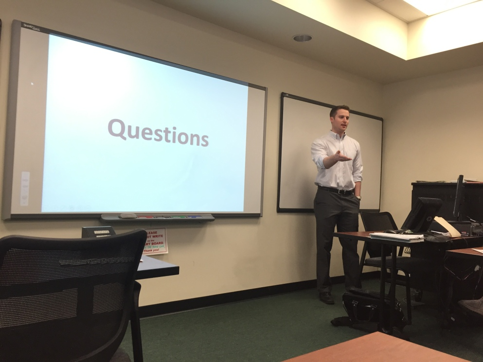James Frackleton presents on digital marketing (April 9, 2015).